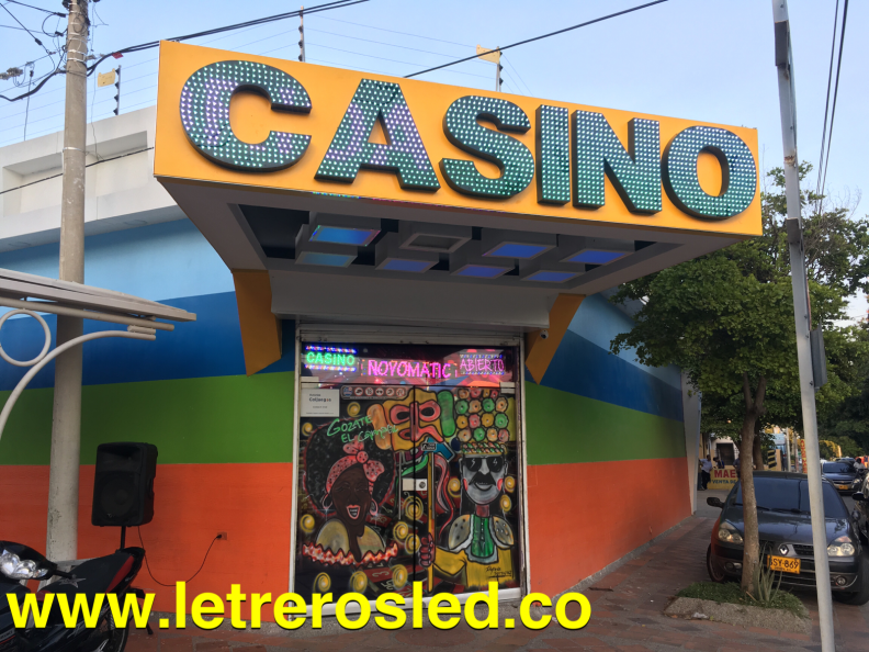 LED Pixel Aviso Acrilico Casino Volumetrico – LED Pixel RGB – Letrero Programable LED Inteligente