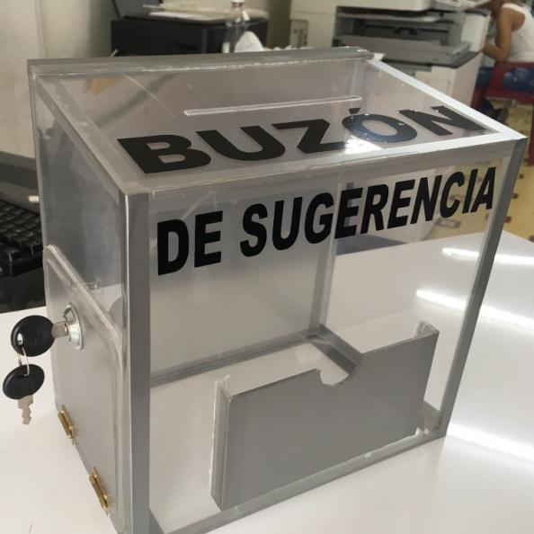 Buzón de Sugerencias – Acrilico Transparente.