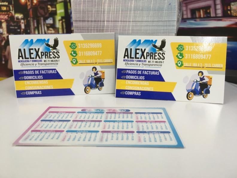 Diseño Tarjetas de Presentación – Alexpress