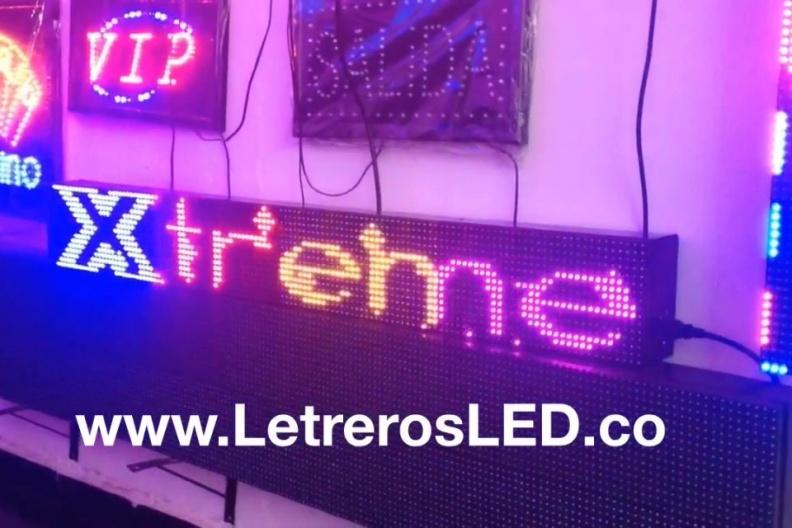 Letrero LED Multicolor, 128×16. Outdoor. Aviso LED Programable.