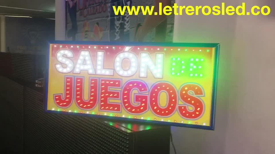 Aviso LED Personalizado – Salon de Juegos