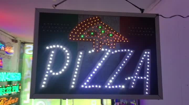 Letrero LED Doble Trafico – Pizza