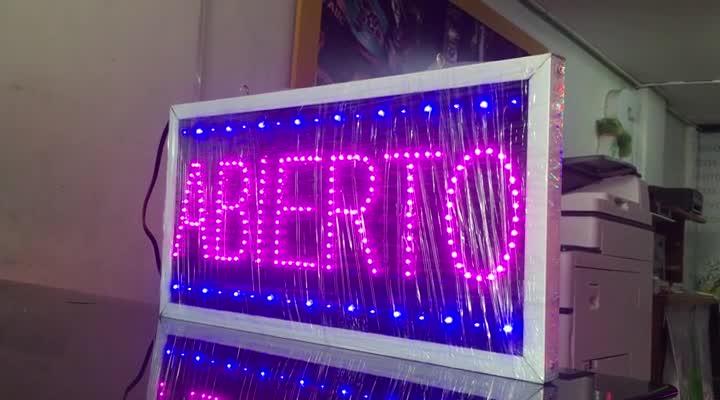Aviso LED Abierto – Doble Cara