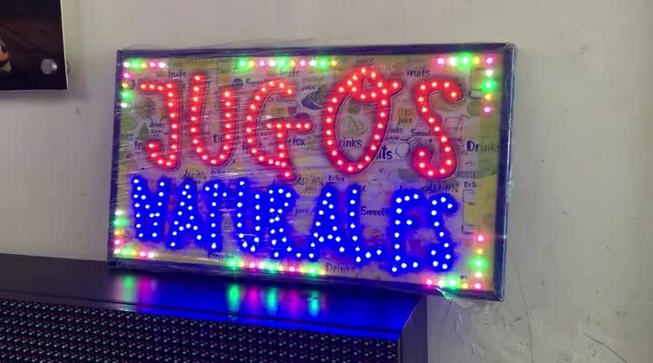 Aviso LED – Jugos Naturales