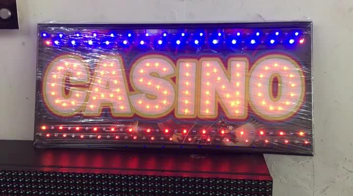 Letrero LED Casino. Personalizado.