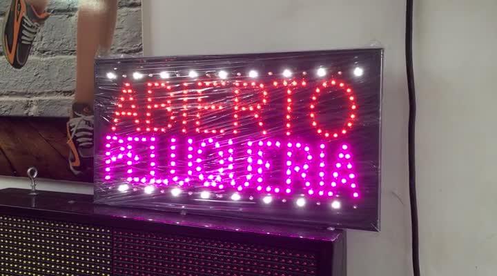 Abierto Peluqueria. LED Publicidad.