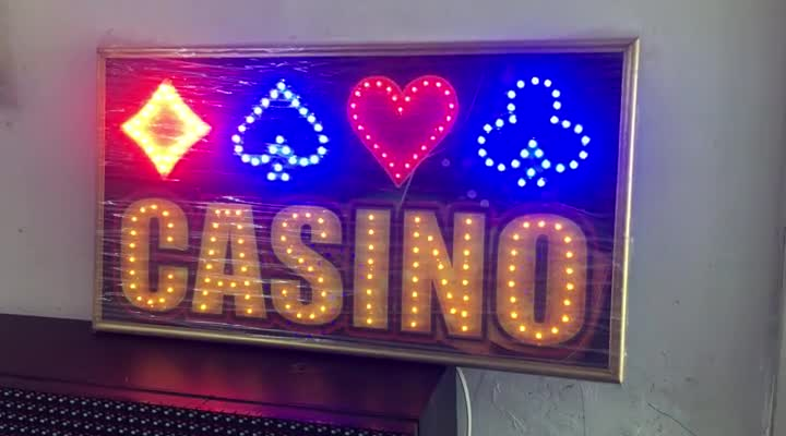 Aviso LED Casino – Efectos Diodos LED