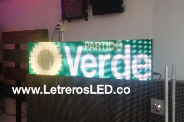 Pantalla LED RGB 128×32. Full Color. Semi-Outdoor. Excelente Visibilidad.