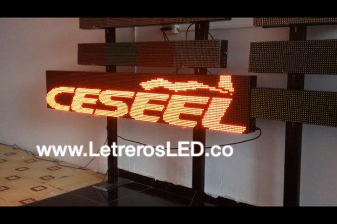Pantalla LED 192×32. Publicidad LED Programable.