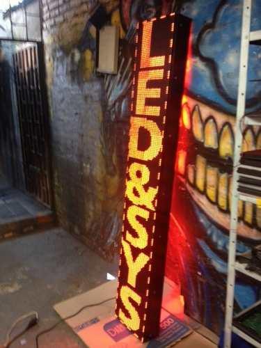 Pantalla LED Vertical, 32x192cm. Tipo Hotel, Mono-Color, Tipo Exterior