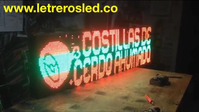 Pantalla LED Colores Combinados, 192x48cm. Conexion USB y Ethernet. Tipo Exterior.