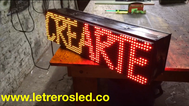 Pasamensajes LED 64×16 Doble Cara, Programable USB. Letrero LED