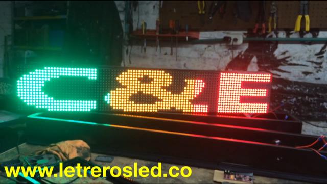 Letrero LED USB. 96×16 Colores Combiando. Tipo Exterior.