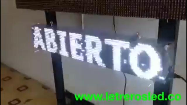 Letrero LED Mono-Color Blanco. 100x20cm. Tipo Exterior. Conexion USB.