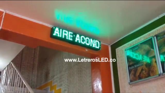 Pasamensajes LED Programable. 100x20cm. Excelente Publicidad. Conexion USB.