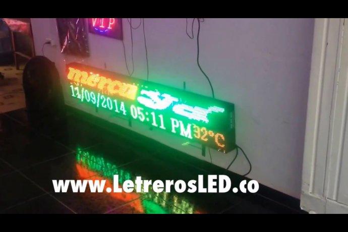 Pantalla LED Tri-Color RG. 192x32cm. Tipo Exterior. Alta Luminosidad